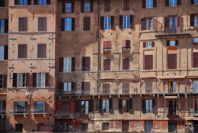 κτήρια Σιένα στοκ εικόνα με δικαίωμα ελεύθερης χρήσης