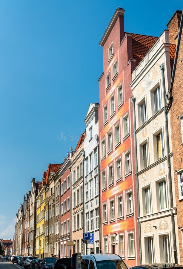 Κτήρια στο ιστορικό κέντρο του Γντανσκ, Πολωνία στοκ εικόνες