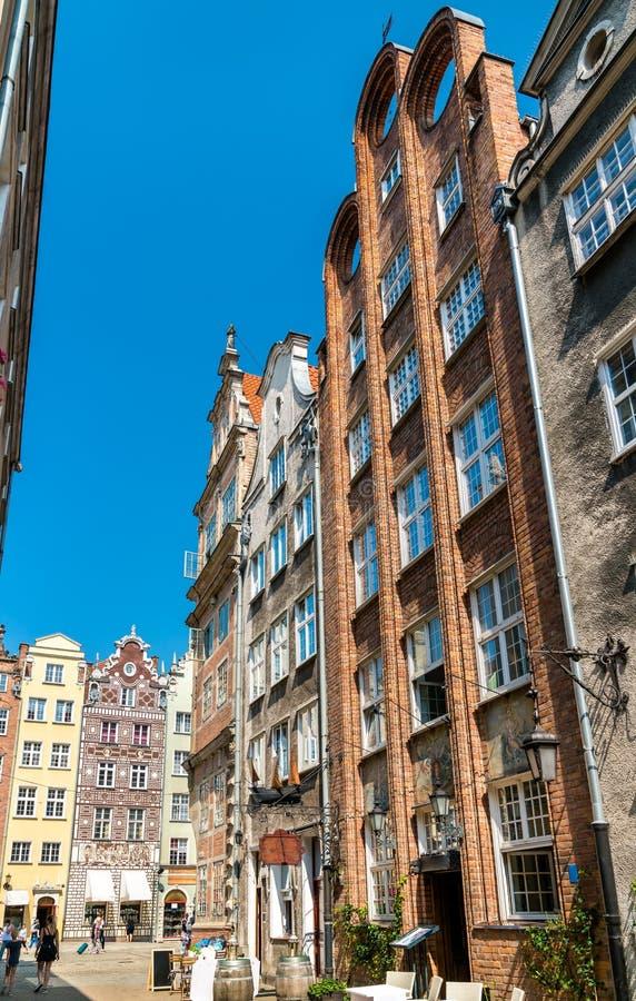 Κτήρια στο ιστορικό κέντρο του Γντανσκ, Πολωνία στοκ φωτογραφίες με δικαίωμα ελεύθερης χρήσης