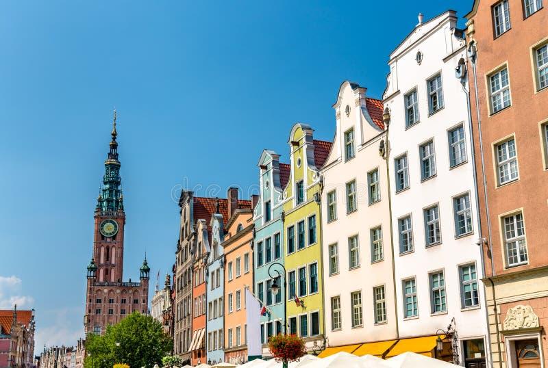 Κτήρια στο ιστορικό κέντρο του Γντανσκ, Πολωνία στοκ εικόνες με δικαίωμα ελεύθερης χρήσης