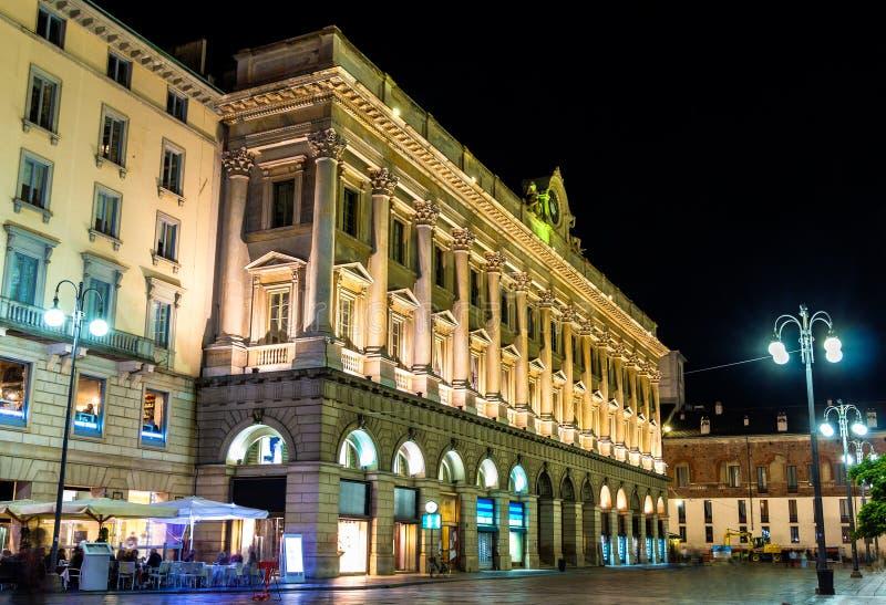 Κτήρια στο ιστορικό κέντρο του Μιλάνου στοκ εικόνες με δικαίωμα ελεύθερης χρήσης