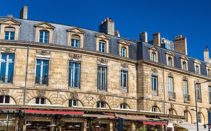 Κτήρια στο ιστορικό κέντρο του Μπορντώ, Γαλλία στοκ εικόνα