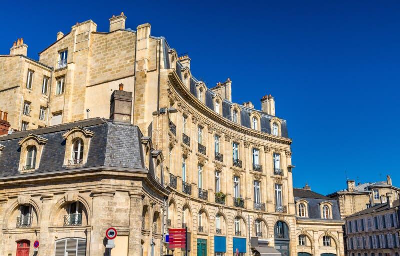 Κτήρια στο ιστορικό κέντρο του Μπορντώ, Γαλλία στοκ εικόνες με δικαίωμα ελεύθερης χρήσης