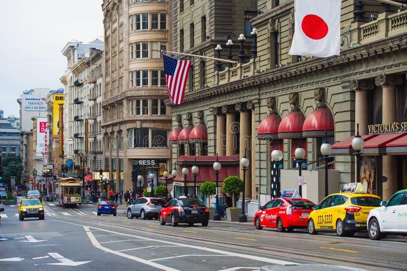 Κτήρια στο τετράγωνο ένωσης, Σαν Φρανσίσκο στοκ εικόνες