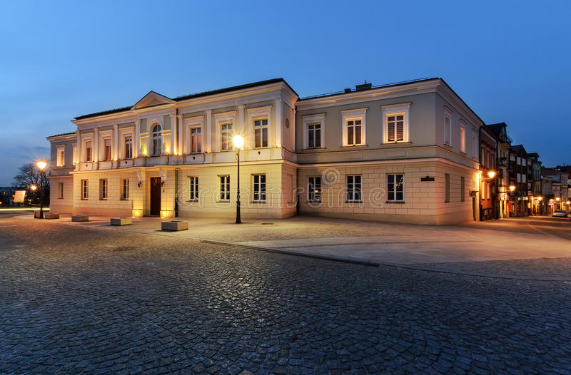 Κτήρια στο τετράγωνο της Μαρίας Panny σε Kielce, Πολωνία στοκ εικόνες