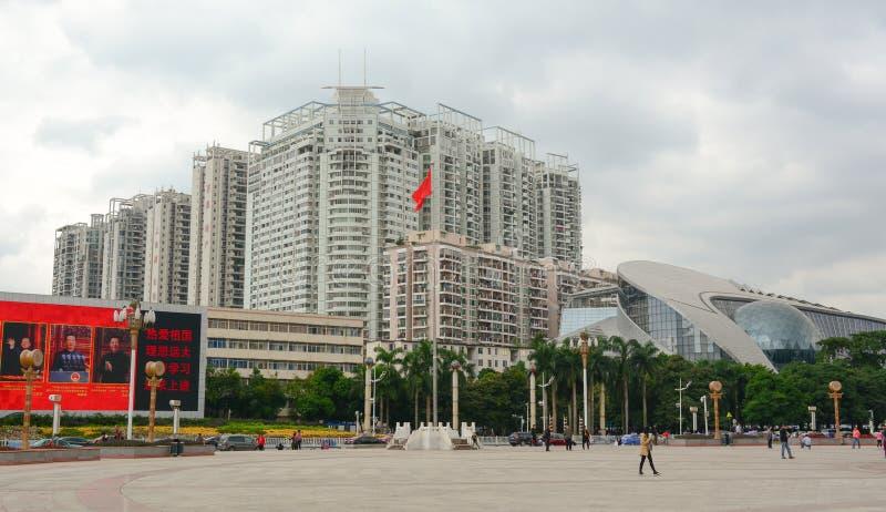 Κτήρια στο Τσάνγκσα, Hunan, Κίνα στοκ φωτογραφία