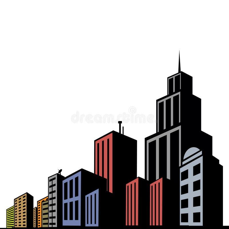 κτήρια σύγχρονα ελεύθερη απεικόνιση δικαιώματος