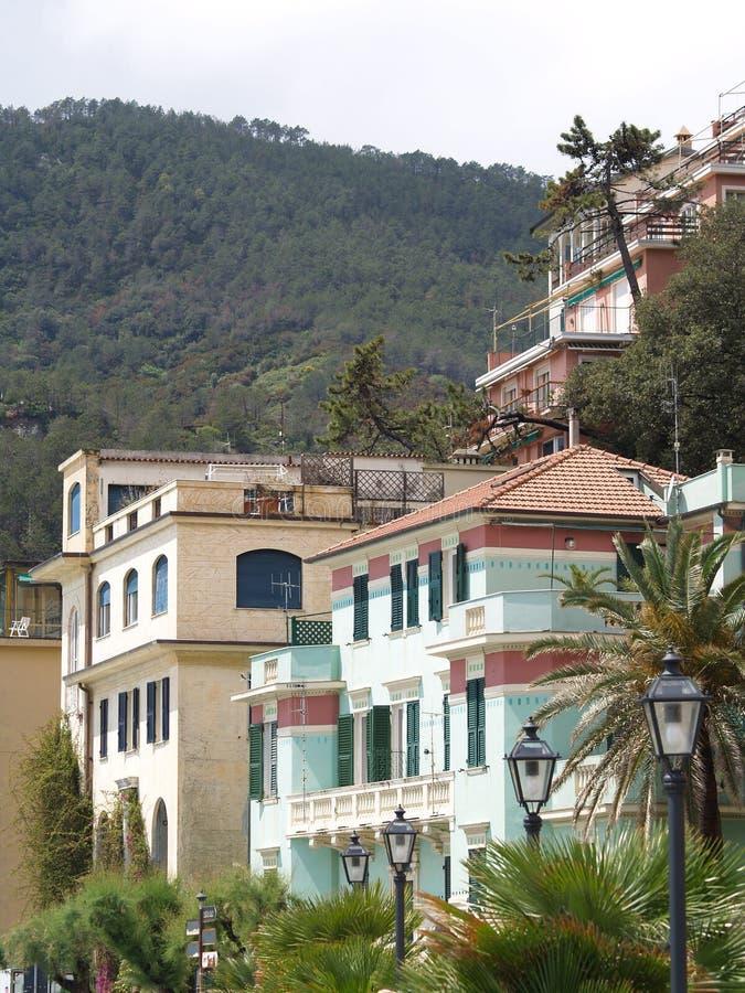 Κτήρια της Ιταλίας φοράδων Al Monterosso στοκ φωτογραφία με δικαίωμα ελεύθερης χρήσης