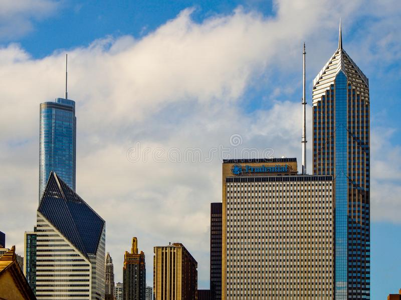 Κτήρια του Σικάγου, Ηνωμένες Πολιτείες - του Σικάγου στοκ φωτογραφίες