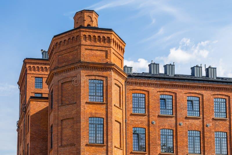 Κτήρια του Manufaktura Το Manufaktura είναι μια λεωφόρος κέντρων και αγορών τεχνών στο Λοντζ στοκ εικόνες