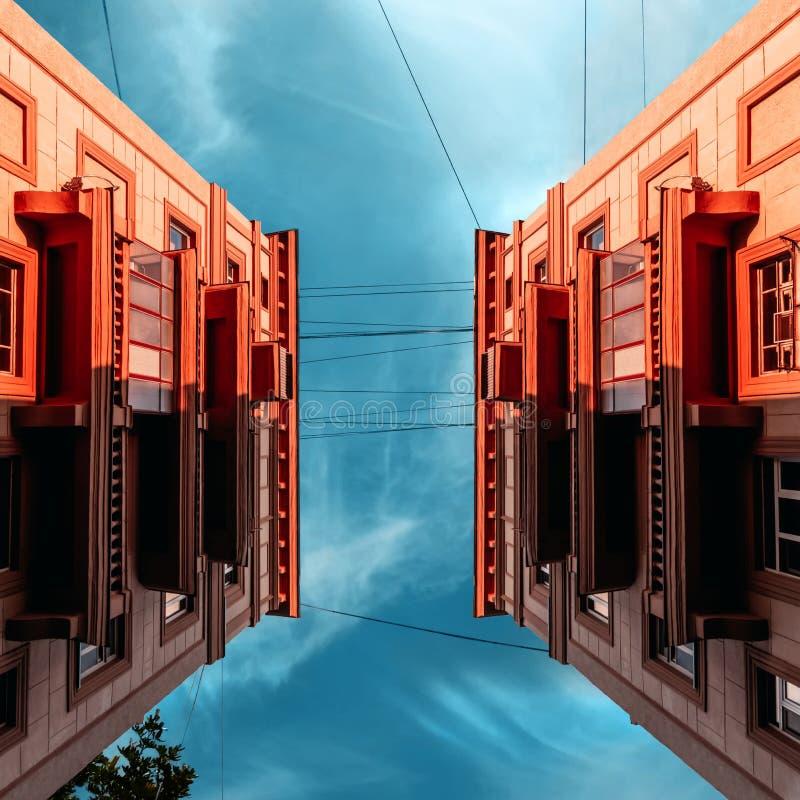 κτήρια δύο στοκ εικόνες με δικαίωμα ελεύθερης χρήσης
