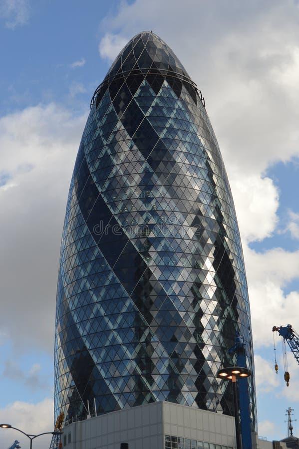 Κτήριο αγγουριών, Λονδίνο, UK στοκ εικόνα