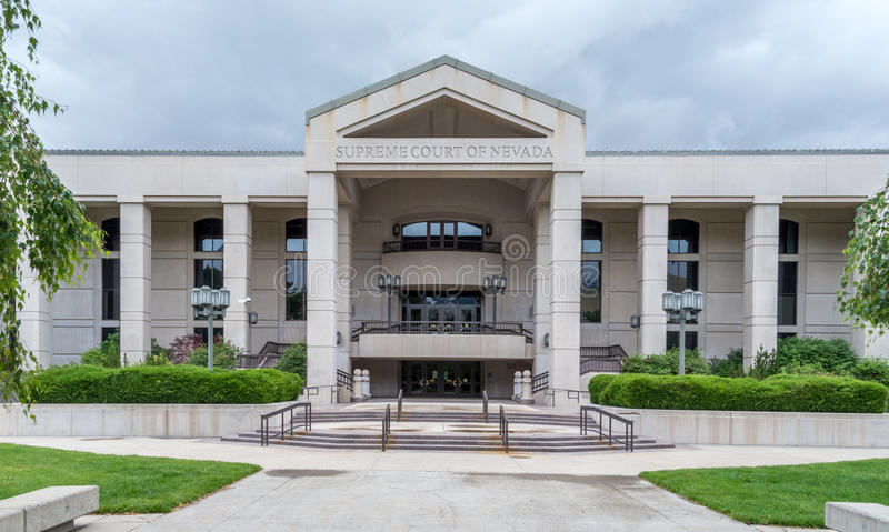 Κτήριο ανώτατου δικαστηρίου της Νεβάδας στοκ φωτογραφία με δικαίωμα ελεύθερης χρήσης