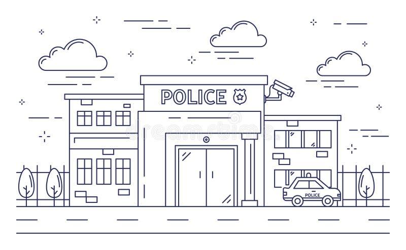 Κτήριο αστυνομικών τμημάτων διανυσματική απεικόνιση