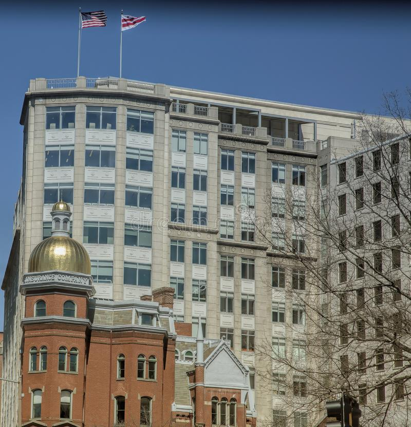 Κτήριο ασφαλιστικής εταιρείας του ιστορικού πυροσβέστη στην Ουάσιγκτον, Δ ? στοκ εικόνες