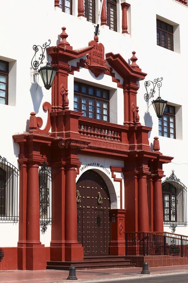 Κτήριο δικαστηρίου στο Λα Serena, Χιλή στοκ εικόνες με δικαίωμα ελεύθερης χρήσης