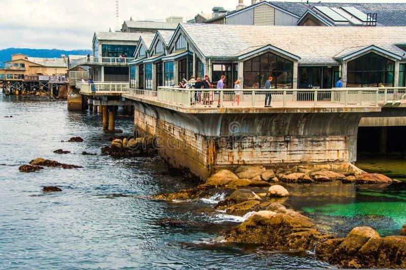 Κτήριο ενυδρείων κόλπων Monterey στοκ εικόνα