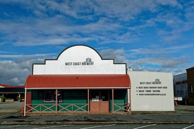 Κτήριο ζυθοποιείων δυτικών ακτών σε Westport, Νέα Ζηλανδία στοκ φωτογραφίες με δικαίωμα ελεύθερης χρήσης