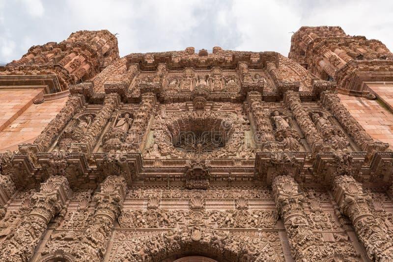Κτήριο καθεδρικών ναών σε Zacatecas Μεξικό στοκ εικόνες