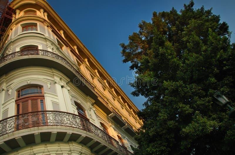 Κτήριο και μπαλκόνι πόλεων της Αβάνας στοκ φωτογραφίες με δικαίωμα ελεύθερης χρήσης