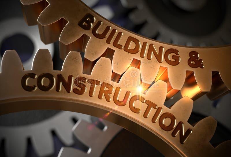 Κτήριο και οικοδόμηση τρισδιάστατος στοκ εικόνα με δικαίωμα ελεύθερης χρήσης