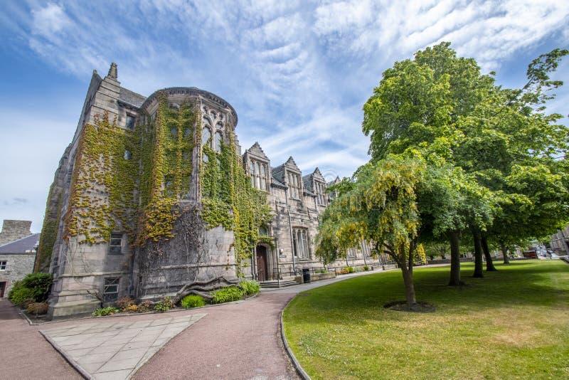 Κτήριο κολλεγίου του πανεπιστημιακού βασιλιά του Αμπερντήν Αυτό είναι το παλαιότερο στοκ φωτογραφίες