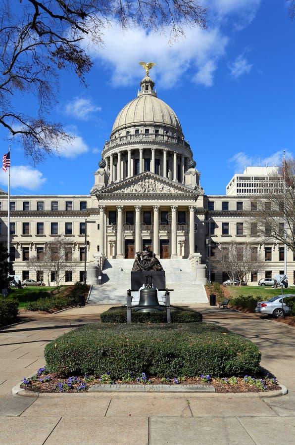 Κτήριο κρατικού Capitol του Μισισιπή στοκ εικόνες