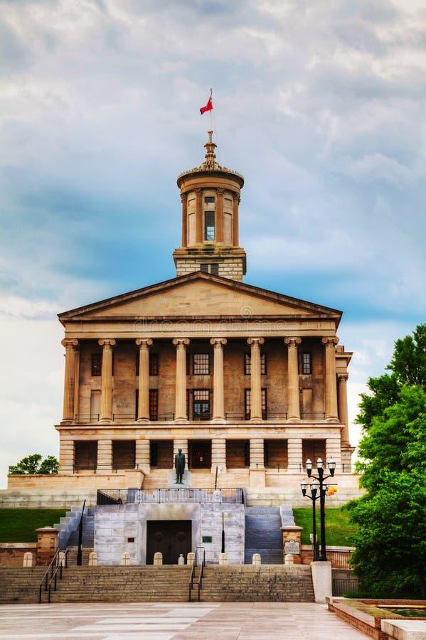 Κτήριο κρατικού Capitol του Τένεσι στο Νάσβιλ στοκ εικόνες