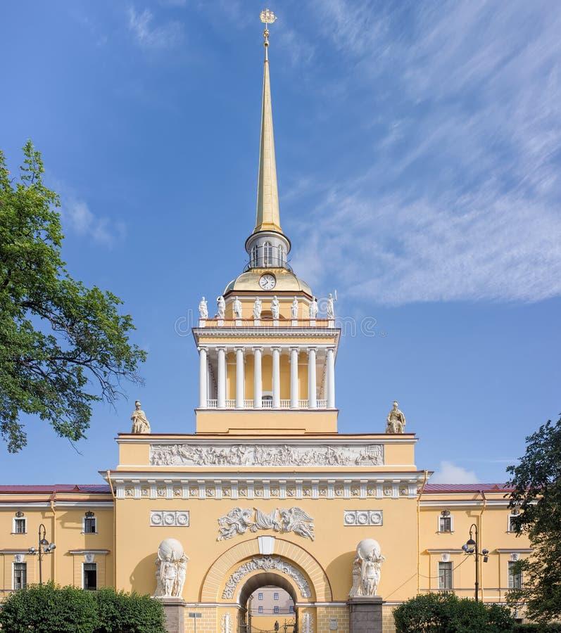 Κτήριο ναυαρχείου στη Αγία Πετρούπολη, Ρωσία στοκ φωτογραφίες με δικαίωμα ελεύθερης χρήσης