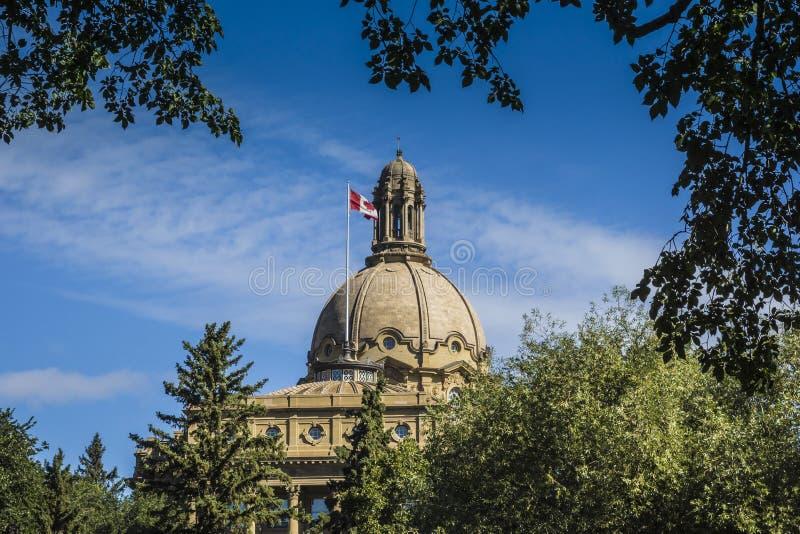 Κτήριο νομοθετικού σώματος Αλμπέρτα στοκ εικόνες