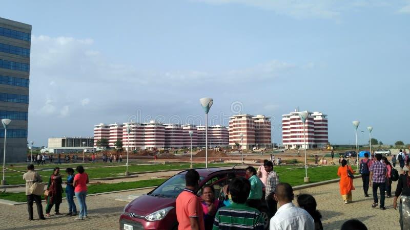 Κτήριο ξενώνων στο ινδικό Τεχνολογικό Ινστιτούτο Hyderabad στοκ εικόνες με δικαίωμα ελεύθερης χρήσης