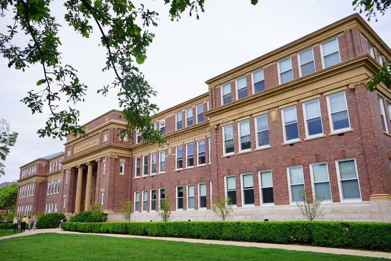 Κτήριο πανεπιστημιουπόλεων UIUC στοκ εικόνες