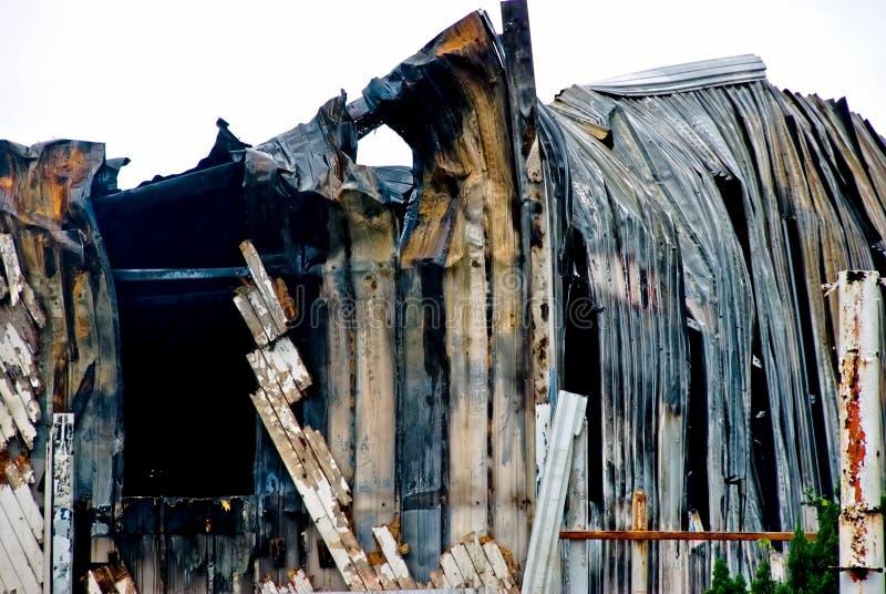 κτήριο που καίγεται στοκ εικόνες με δικαίωμα ελεύθερης χρήσης