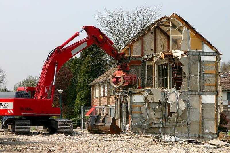 κτήριο που κατεδαφίζετ&alph στοκ φωτογραφία