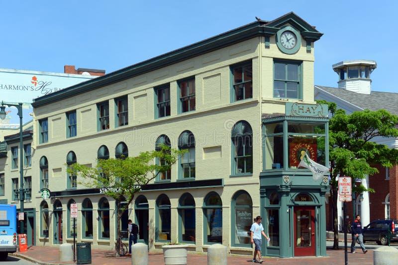 Κτήριο σανού περιοχής τεχνών του Πόρτλαντ, Μαίην, ΗΠΑ στοκ εικόνες