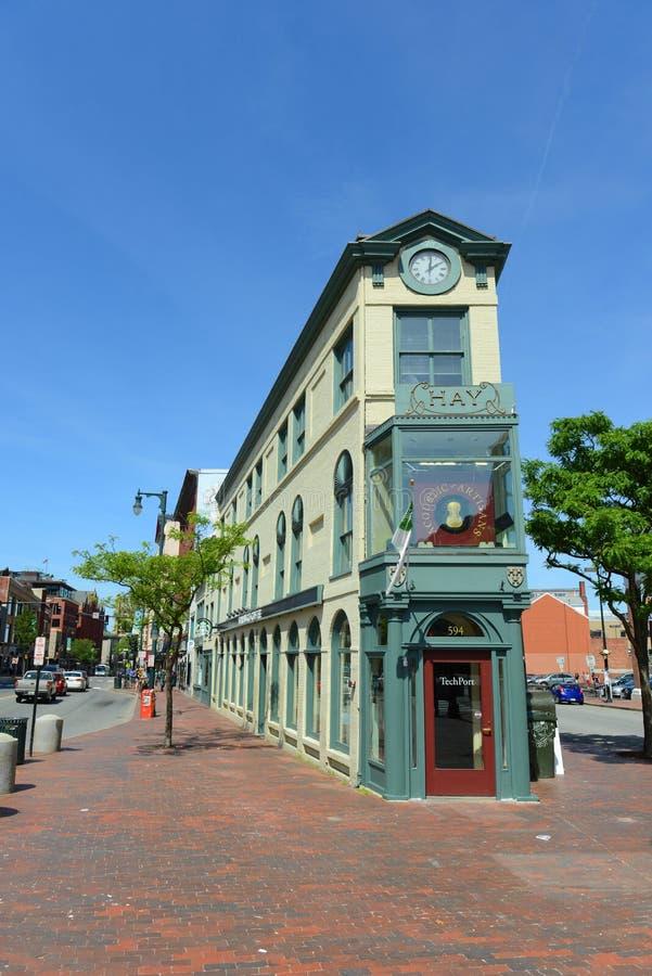 Κτήριο σανού περιοχής τεχνών του Πόρτλαντ, Μαίην, ΗΠΑ στοκ φωτογραφίες
