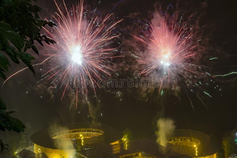 Κτήριο σκηνής νύχτας της ΚΙΝΑΣ FUJIAN ΝΑΝΤΖΊΝΓΚ στοκ φωτογραφία