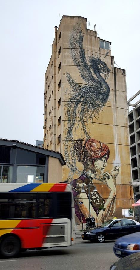Κτήριο τέχνης γκράφιτι στοκ φωτογραφίες με δικαίωμα ελεύθερης χρήσης