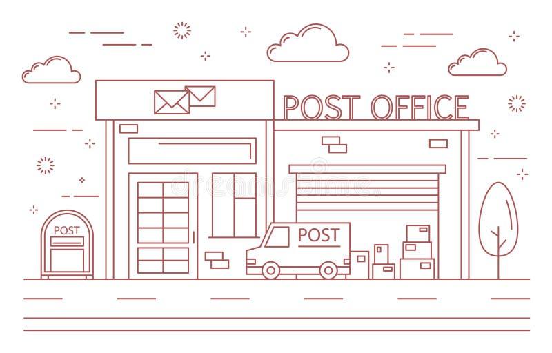 Κτήριο ταχυδρομείου απεικόνιση αποθεμάτων