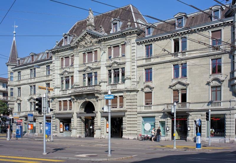 Κτήριο της Ζυρίχης Schauspielhaus στοκ εικόνα