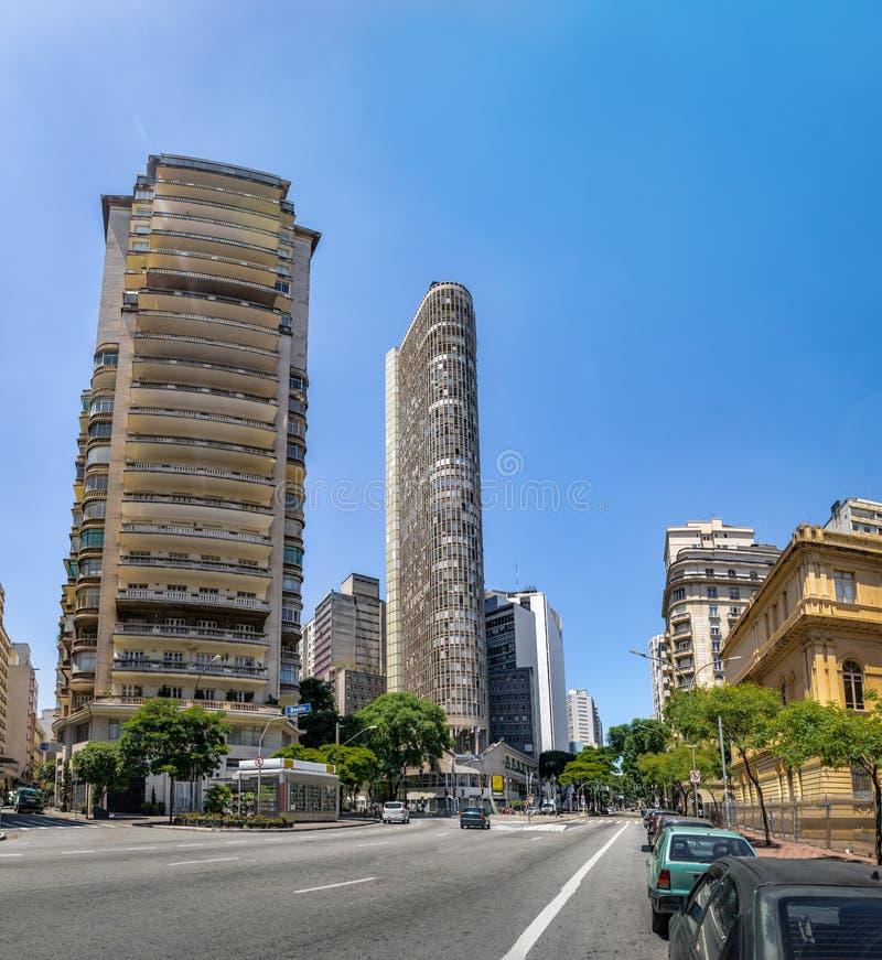 Κτήριο της Ιταλίας Ιταλία Edificio στο στο κέντρο της πόλης Σάο Πάολο - το Σάο Πάολο, Βραζιλία στοκ φωτογραφία