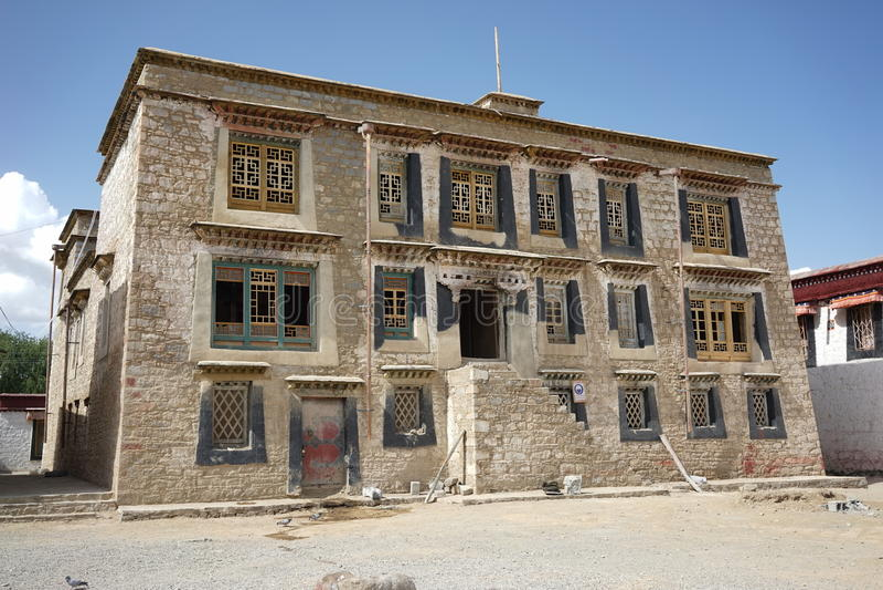 Κτήριο του Θιβέτ σε Samye Gompa στοκ εικόνα με δικαίωμα ελεύθερης χρήσης