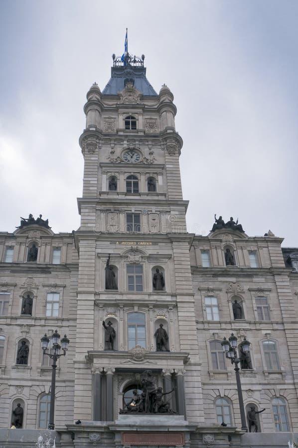 Κτήριο του Κοινοβουλίου στην πόλη του Κεμπέκ στοκ εικόνες