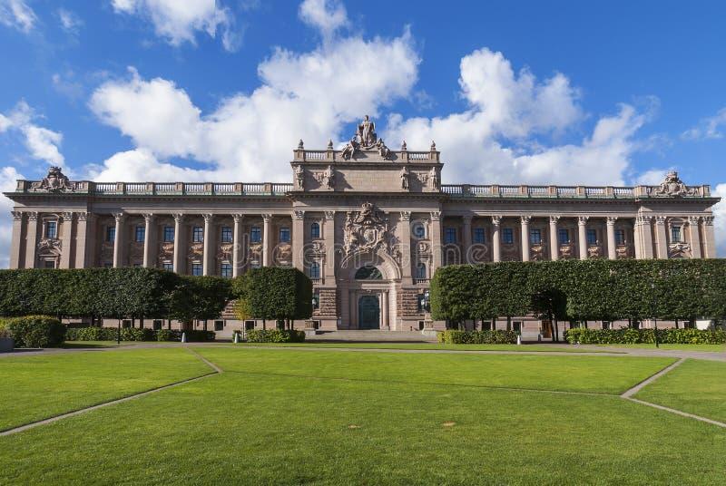 Κτήριο του Κοινοβουλίου στη Σουηδία στοκ εικόνα