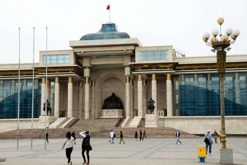 Κτήριο του Κοινοβουλίου - Ulaanbaatar - Μογγολία στοκ φωτογραφίες με δικαίωμα ελεύθερης χρήσης