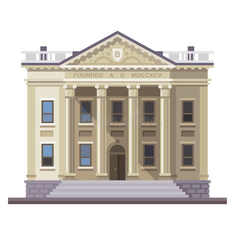 Κτήριο τράπεζας Επιχείρηση και χρηματοδότηση ελεύθερη απεικόνιση δικαιώματος