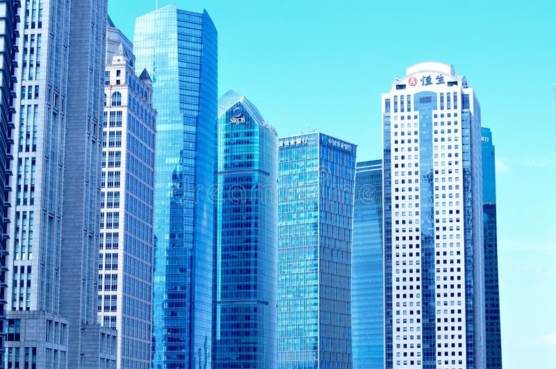 Κτήριο τράπεζας Hengsheng στοκ φωτογραφίες