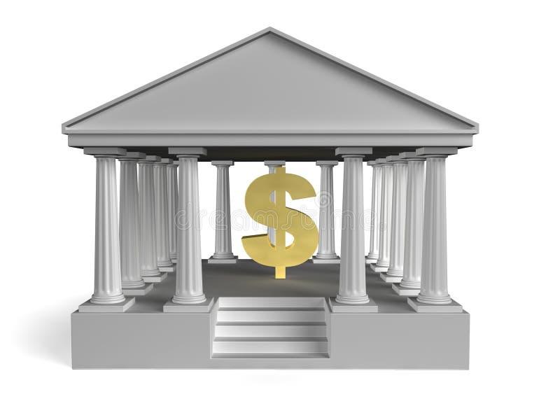 Κτήριο-τράπεζα διανυσματική απεικόνιση