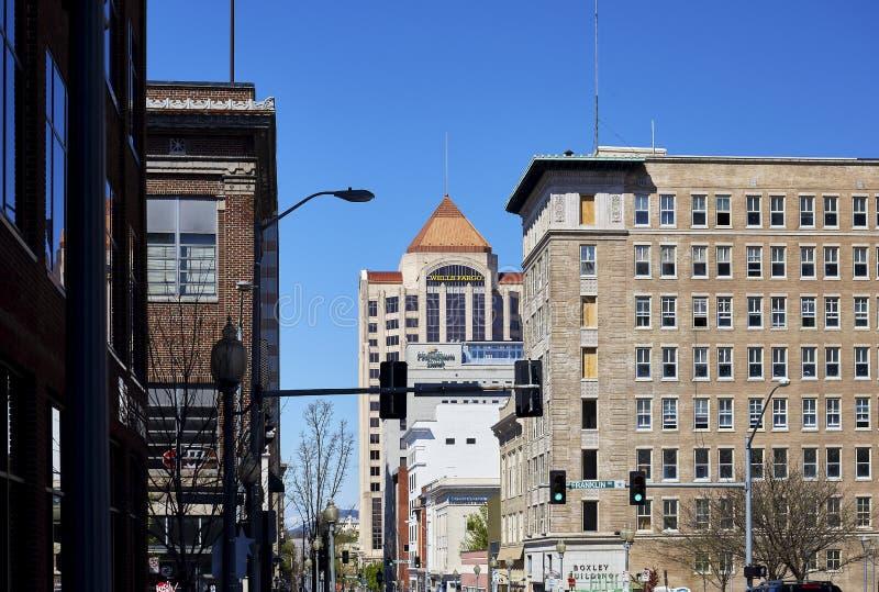 Κτήριο Boxley και περίχωρα, Roanoke, Βιρτζίνια στοκ φωτογραφία