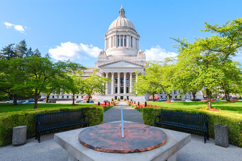 Κτήριο Capitol πολιτεία της Washington στοκ φωτογραφία